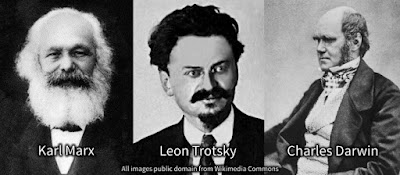 Atheism, Marxism, and Evolutionism were ruthless murderer Trotsky's religion. Reading Darwin put him over the edge into atheism.