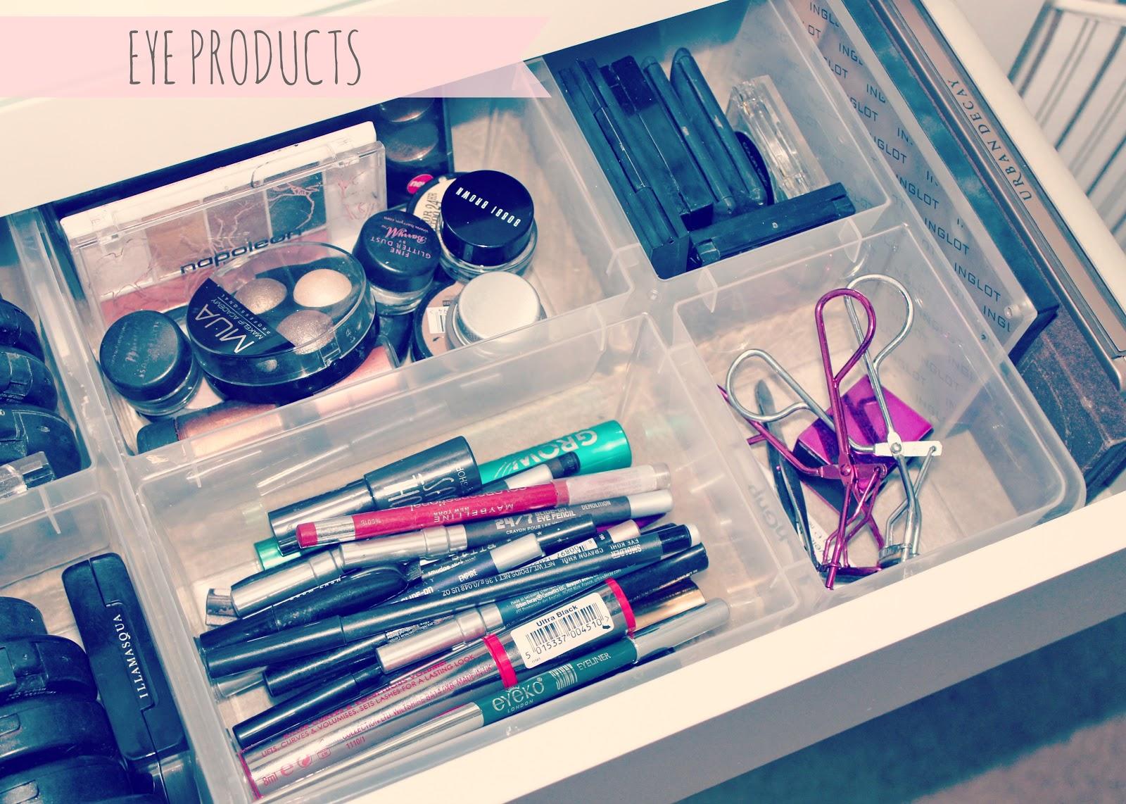 Ikea malm dressing table ikea antonius basket inserts makeup storage - My Makeup Storage Ikea Malm Dressing Table Sweet