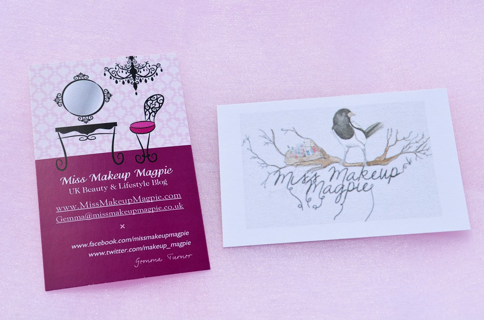 Miss makeup magpie makeup and beauty blog for 123print business cards