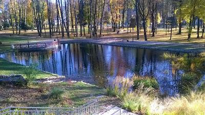 staw parku dolnym w Szczawnicy