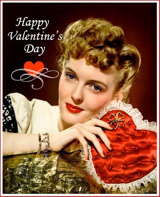 foto de chica retro para San Valentín en inglés