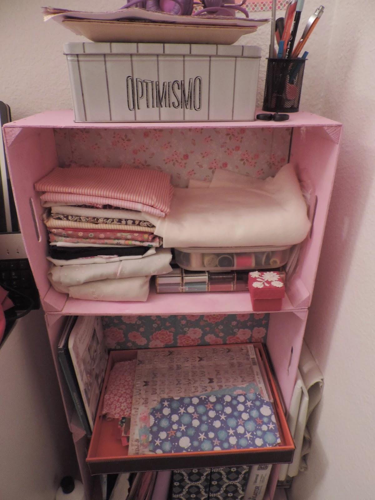 El taller de party handmade estanteria con cajas de - Estanterias con cajas de fruta ...