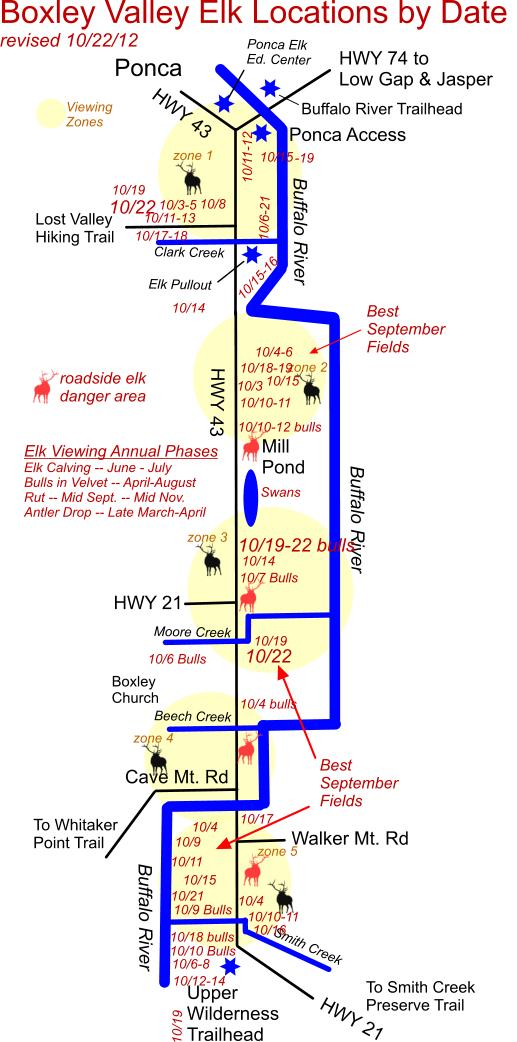 10/22/12 Elk Herd Location Map