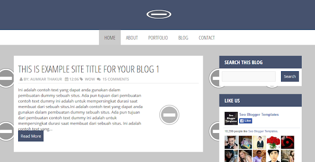 Magazine Blogger Template Free Download