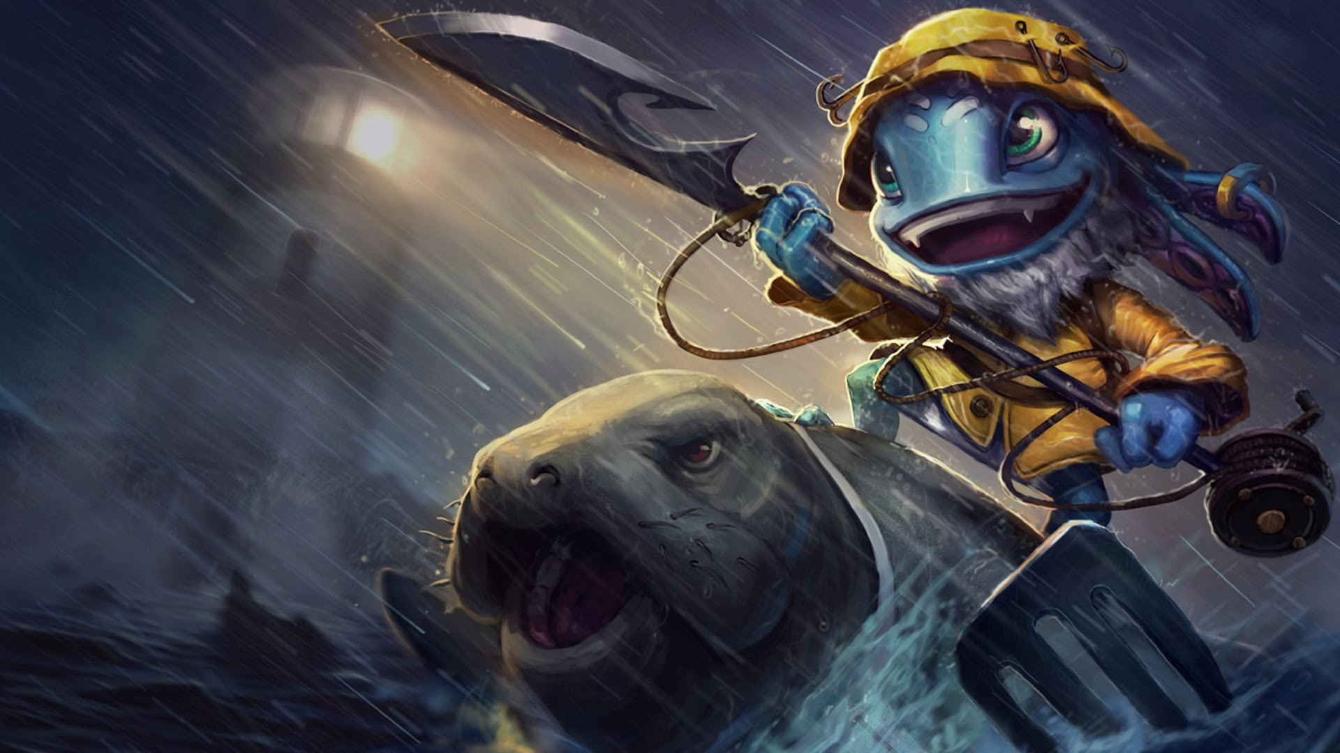 fisherman fizz league of legends hd wallpaper lol