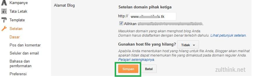 Cara Terbaru Setting CNAME Domain DOT TK GQ CF GA ML Freenom Di Blogger