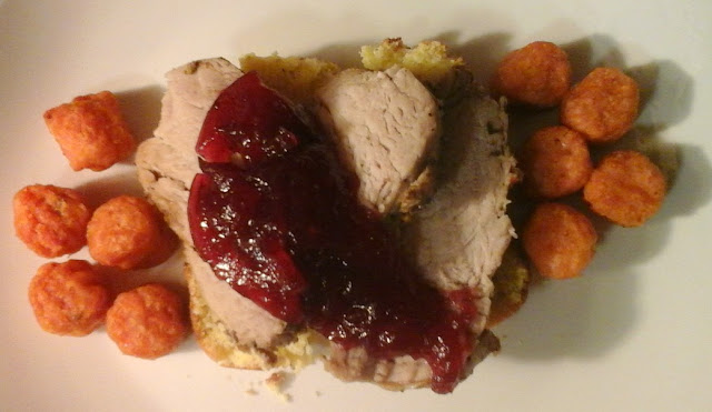 Open Faced Cranberry Pork Sandwiches