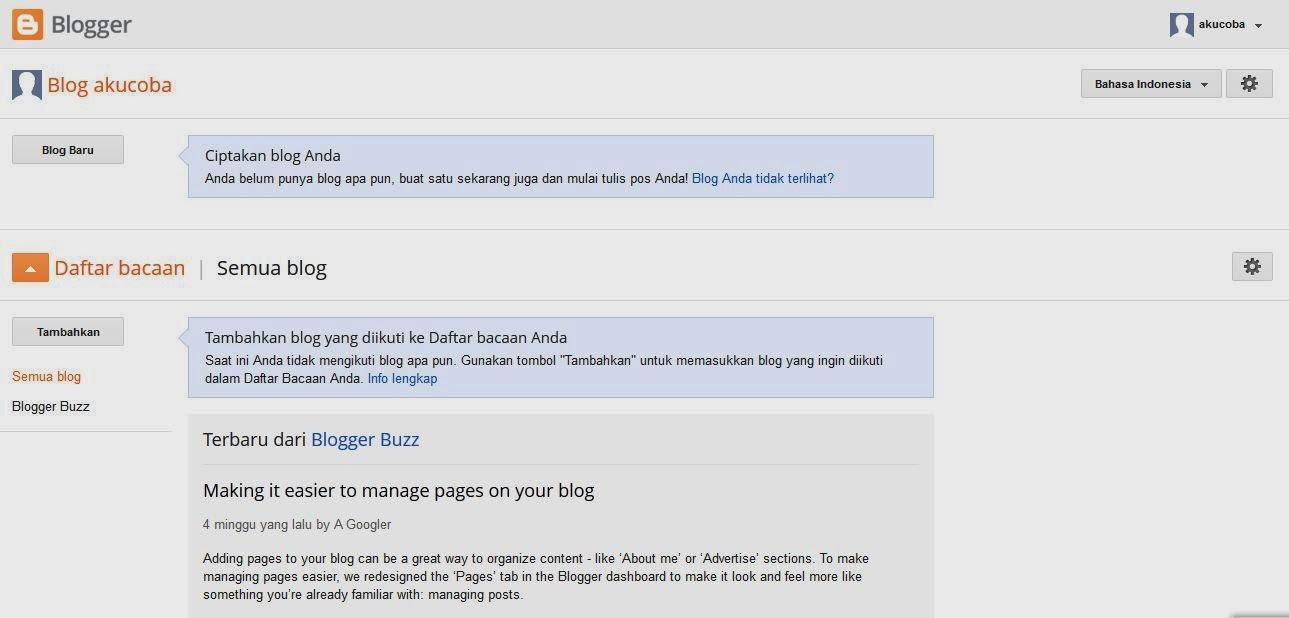 Cara membuat sebuah Blog