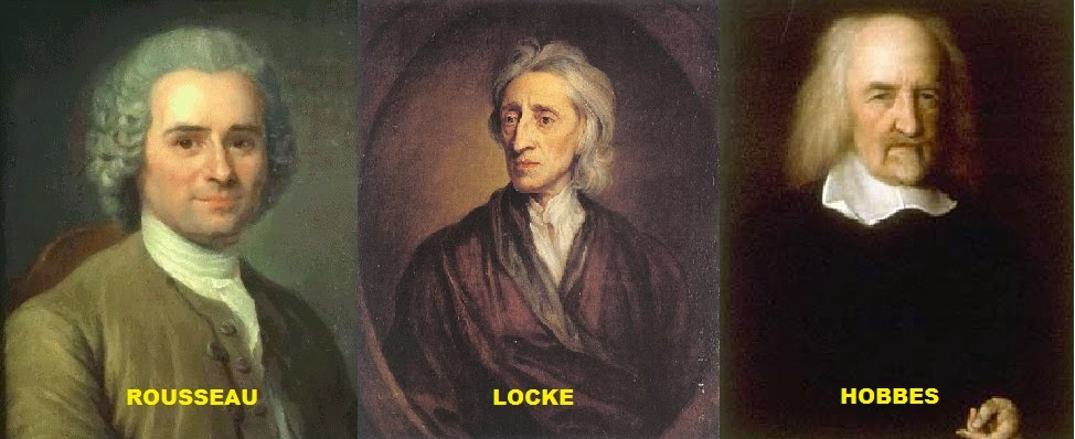 rousseau and hobbes Hobbes, locke, rousseau: the social contract the revolution that marked the decline of the absolute monarchy and the rise of democracy and liberty.