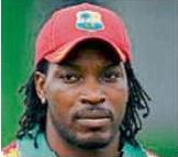West Indian star batsman Chris Gayle