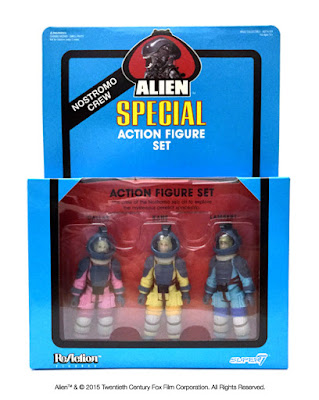 "New York Comic Con 2015 Exclusive Alien ""Nostromo Crew"" ReAction Figure 3 Pack Box Set by Super7"
