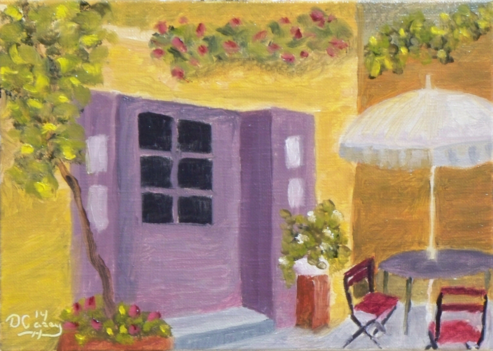 141008 - French Courtyard 001a 5x7 oil on linen panel - Dave Casey - TheDailyPainter.jpg