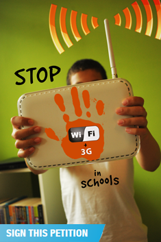 stop using wifi in schools petition
