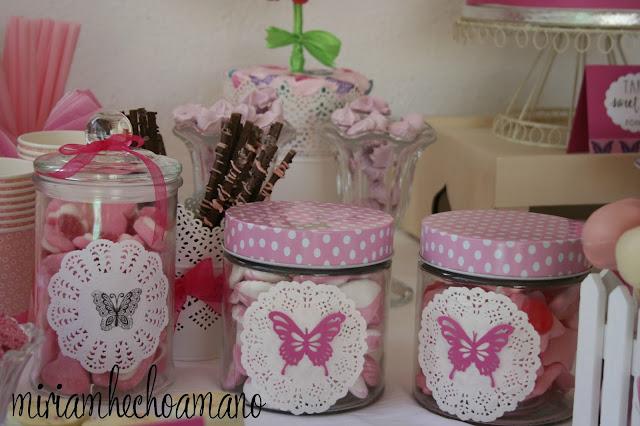 mesa dulce mariposas