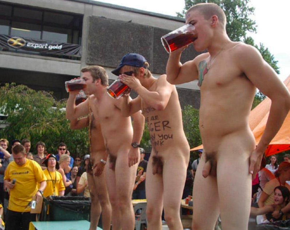 Nude men at play games the world