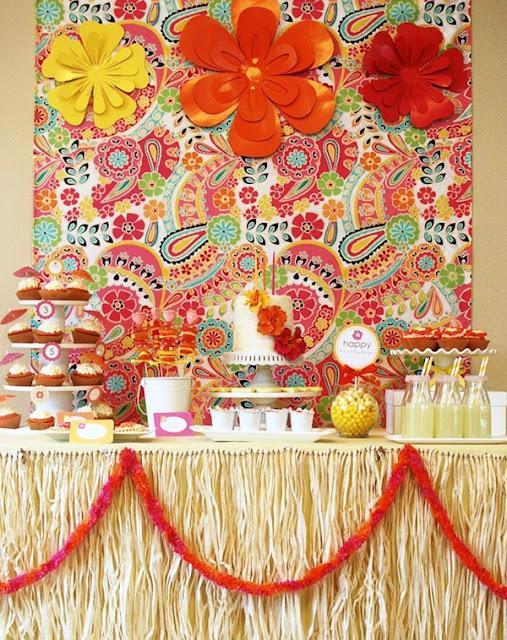 Decoracion Hawaiana Para Mesas ~ Ideas para mesa de fiesta hawaiana  Ideas y material gratis para