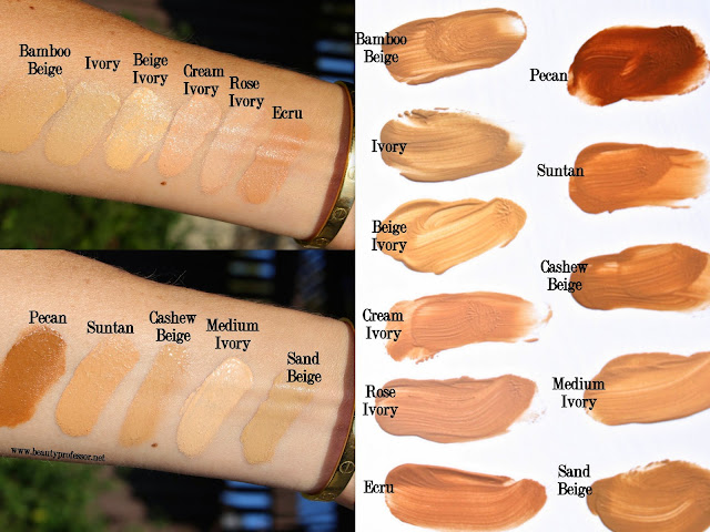 laura mercier silk creme photo edition oil free foundation swatches