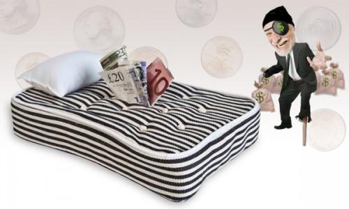 El blog de marga como guardar el dinero en el colch n for Bichos en el colchon
