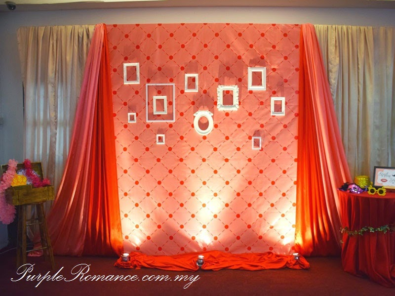 Photo Booth Backdrop Design, tarpaulin, white photo frames design, draping, red, peach, ivory, treasure box holder, props, instant print, package, wedding decor, decoration, anniversary, annual dinner, corporate decor, VIP centerpiece, red roses, VIP chair decor, chair tie back, organza, satin sashes, kuala lumpur, selangor, klang utama, dragon garden restaurant, modern design, elegant, unique, personalized, theme, personalised, bespoke, handmade, hand crafted, event, setup, affordable, rate