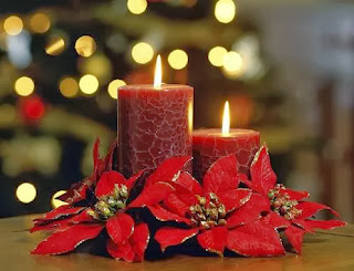 Centros de Mesa de Navidad Rojos, parte 1
