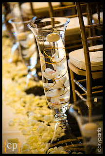 wedding ceremony aisle, hurricane candles