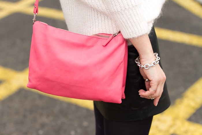 Zara Pink Leather Bag