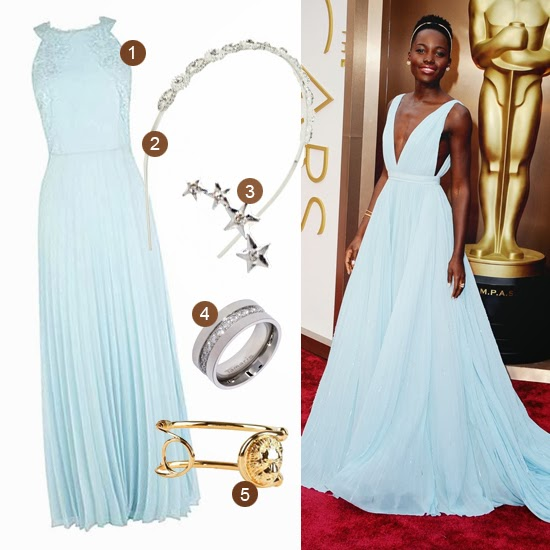 Get Lupita Nyong'o Oscars Red Carpet 2014 Prada look for less