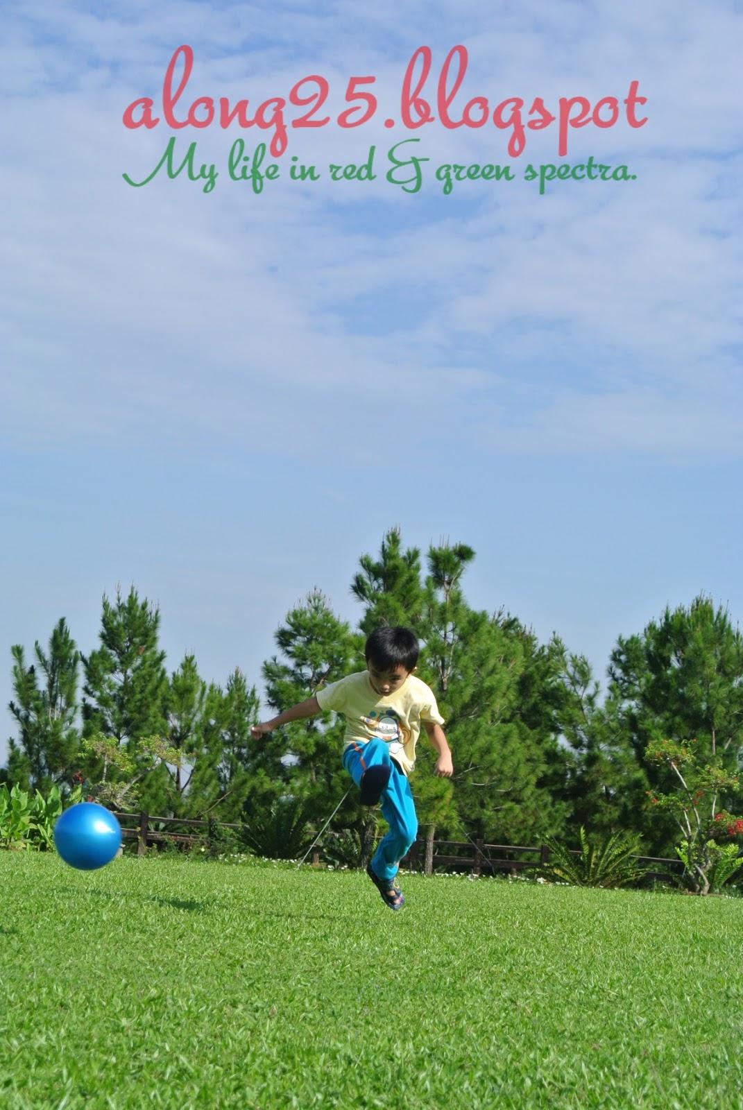 blog along25, along25, taman saujana hijau, bola sepak