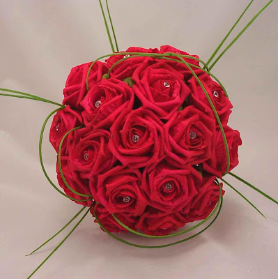 Artificial flower bouquets for weddings