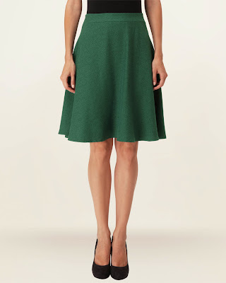 Phase Eight Green Jacquard Midi Skirt