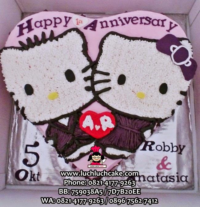 Kue Tart Hello Kitty Untuk Anniversary Daerah Surabaya - Sidoarjo
