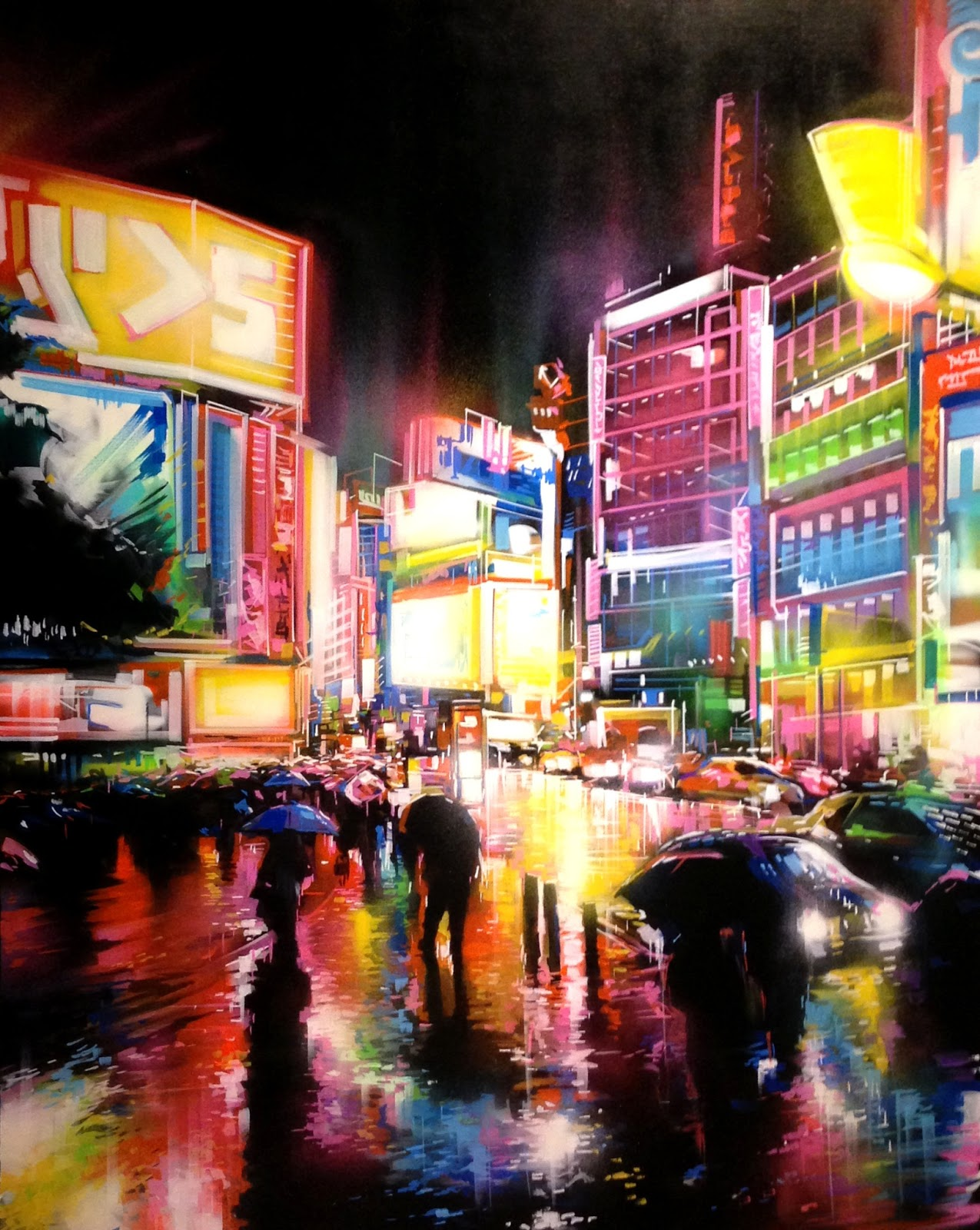 Urban Lights Kitchener Street Art Oclock Dan Kitchener Dank Tokyo Neon Show At