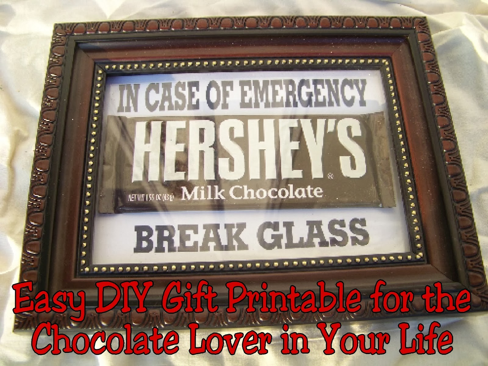Easy DIY Gift Printable for the Chocolate Lover in Your Life