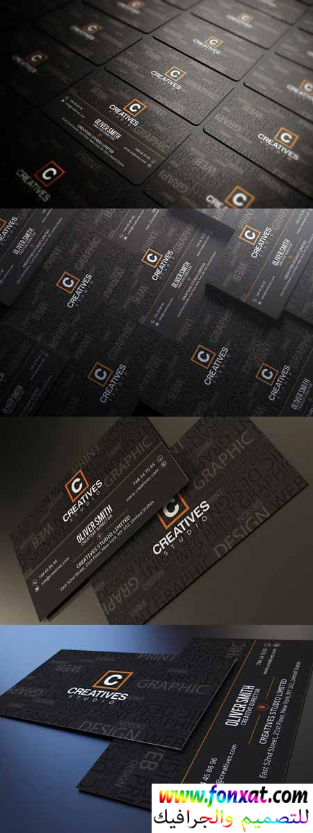 business card تصميم كارت شخصى احترافى psd رقم 15
