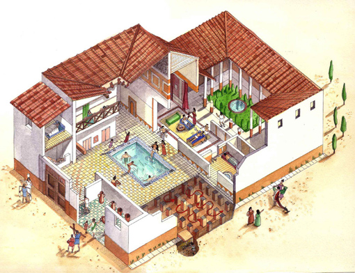 Minecraft Building Ideas Roman Villa