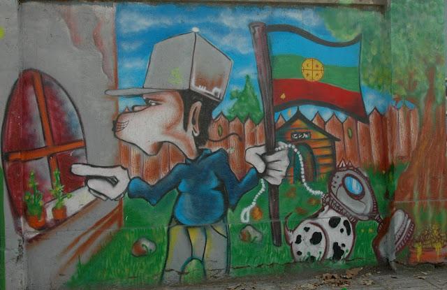 street art and graffiti on the street exposicion, santiago de chile
