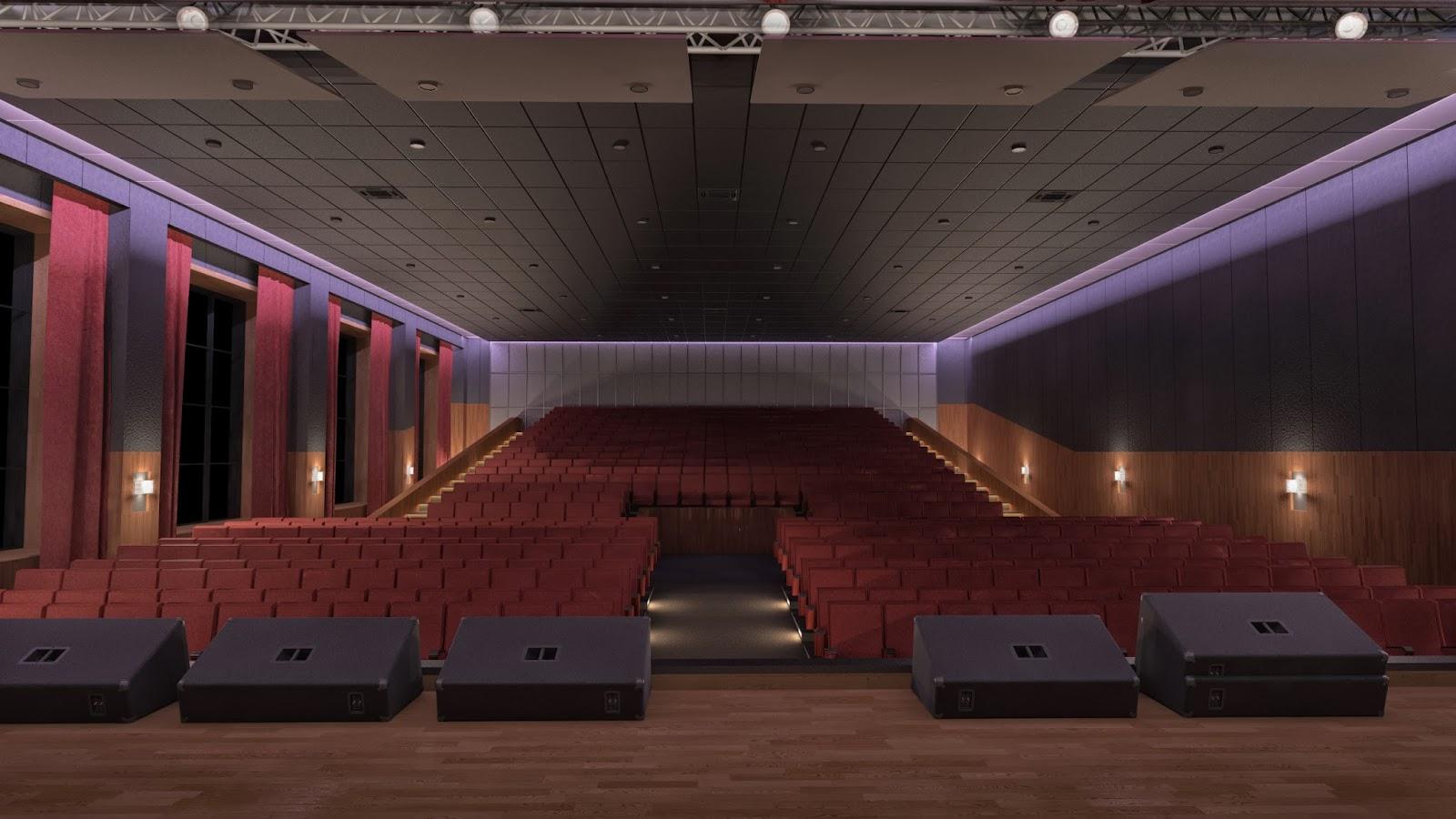 Nuevo auditorio interior estado de brest universidad - Cuanto cobra un disenador de interiores ...
