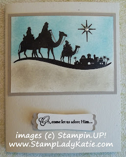 Card made with Stampin'UP!'s stamp set: Come to Bethlehem
