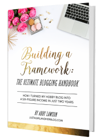 Building a Framework blogging ebook. Great advice on how to start a blog. From a post on blogging resources that are TOTALLY worth your time.
