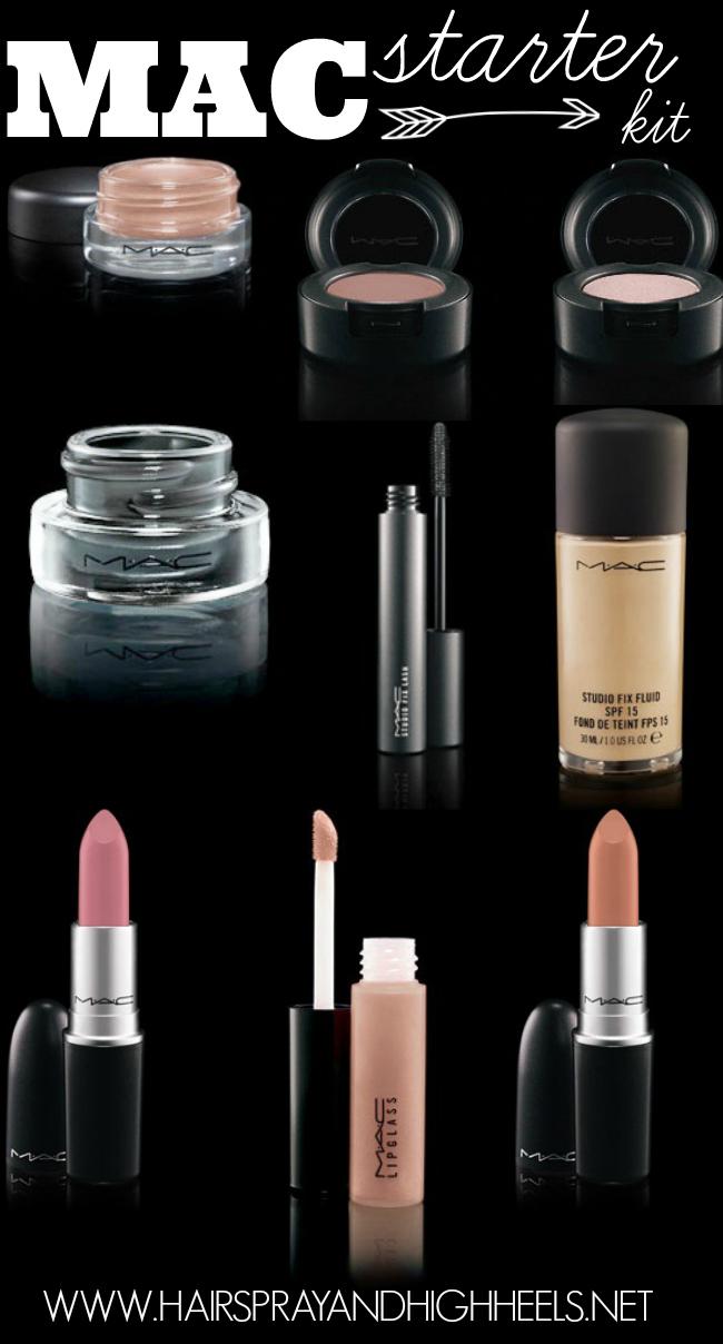 Makeup starter kit mac hairspray and highheels