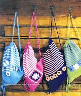 Вязаные рюкзаки