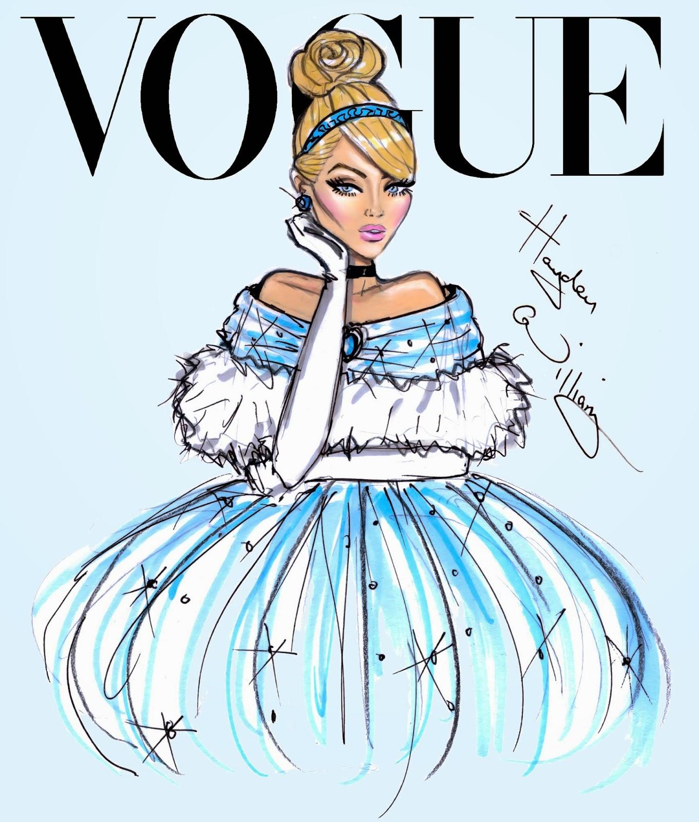 Hayden Williams Fashion Illustrations Disney Divas For Vogue By Hayden Williams Cinderella
