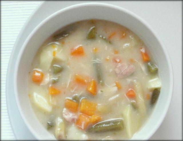 zupa fasolowa, zupa z fasolki szparagowej, zupa wiosenna