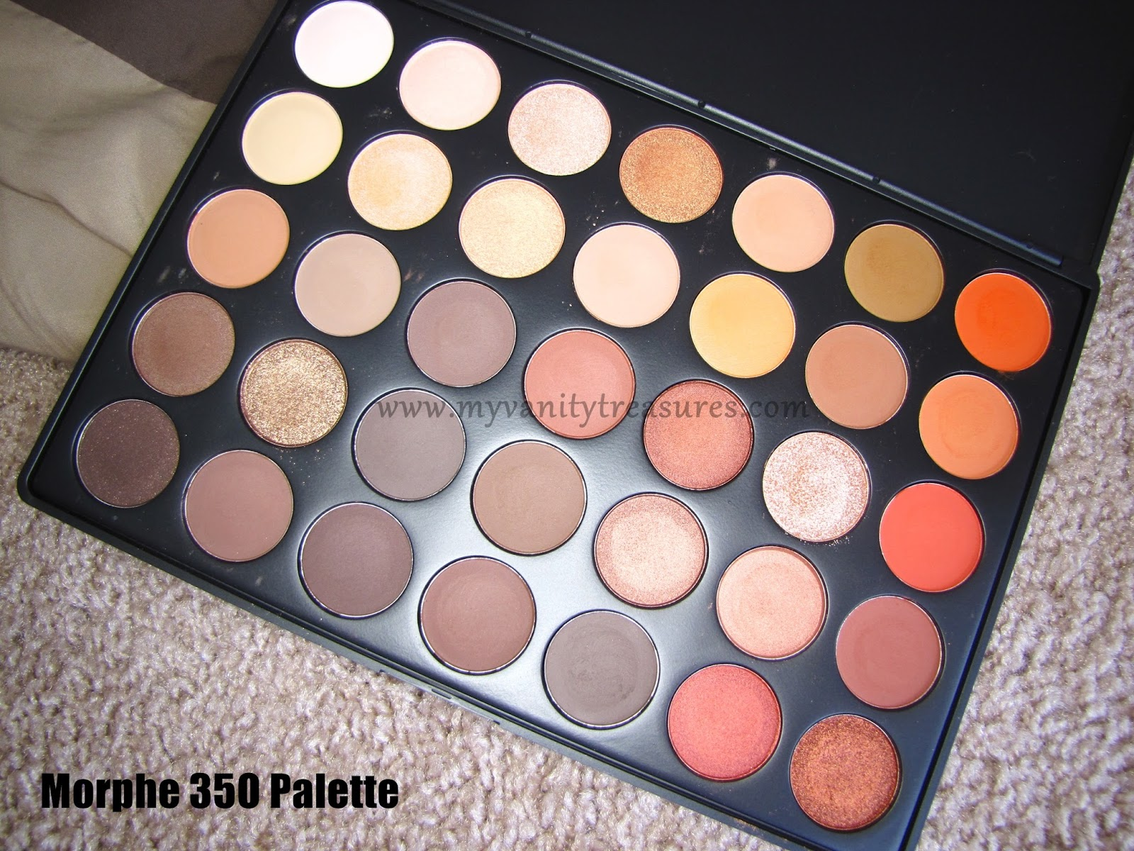 morphe 35o swatches. morphe 35o palette swatches l