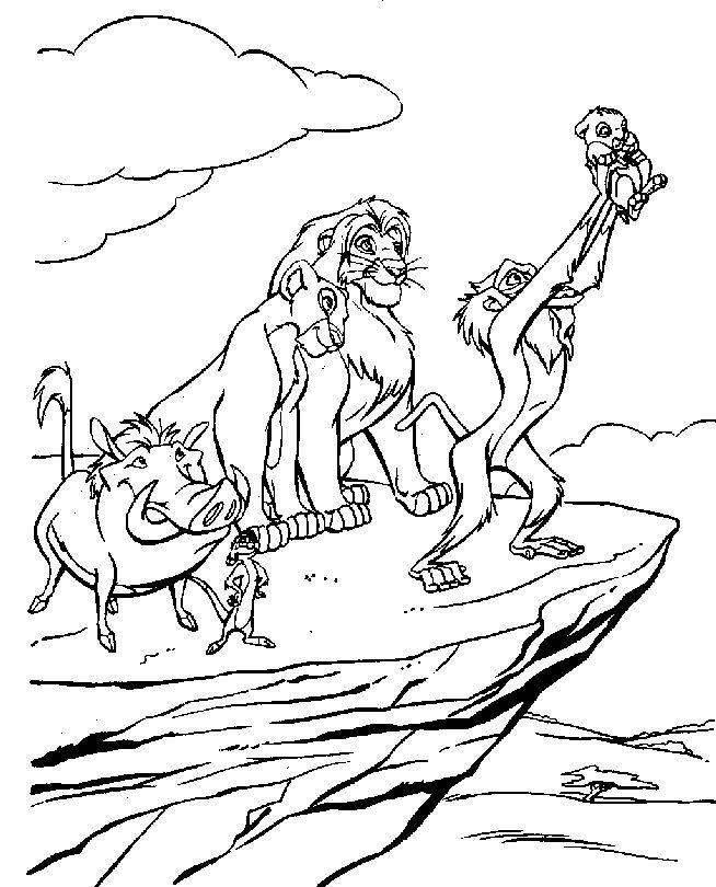Desenhos para colorir e imprimir desenhos para for Lion king kiara coloring pages
