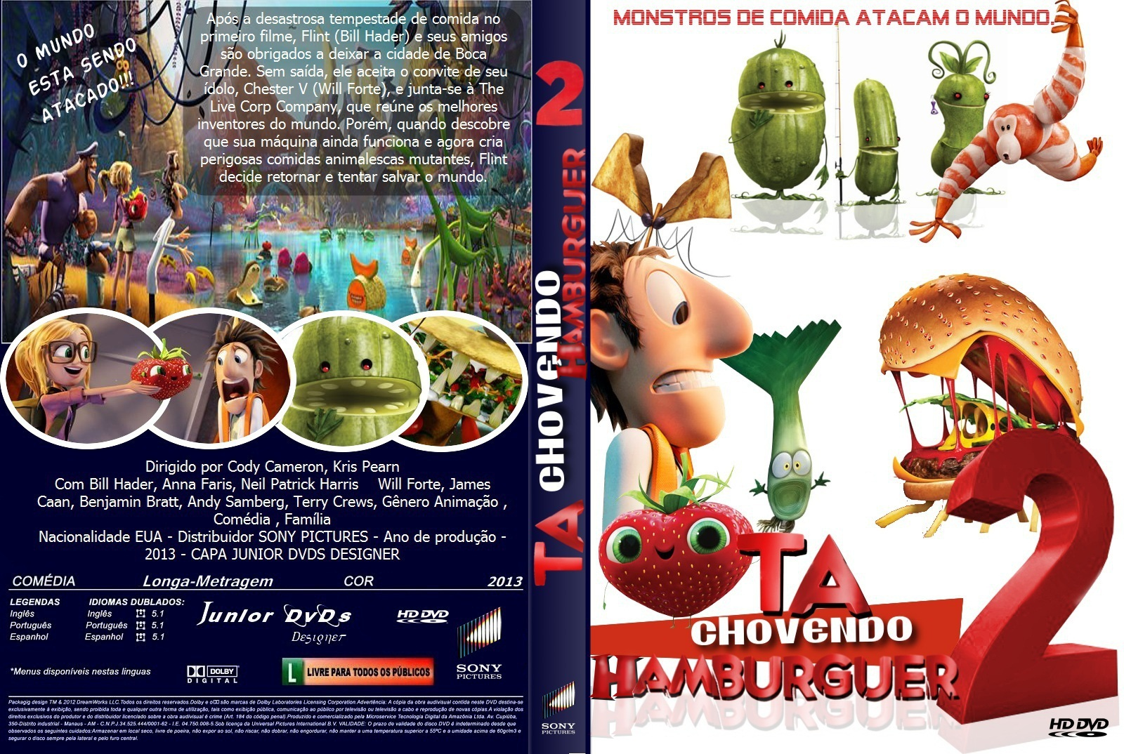 Filme Ta Chovendo Hamburguer Dublado Completo regarding baixar dvd-r tá chovendo hambúrguer 2 dvd-r