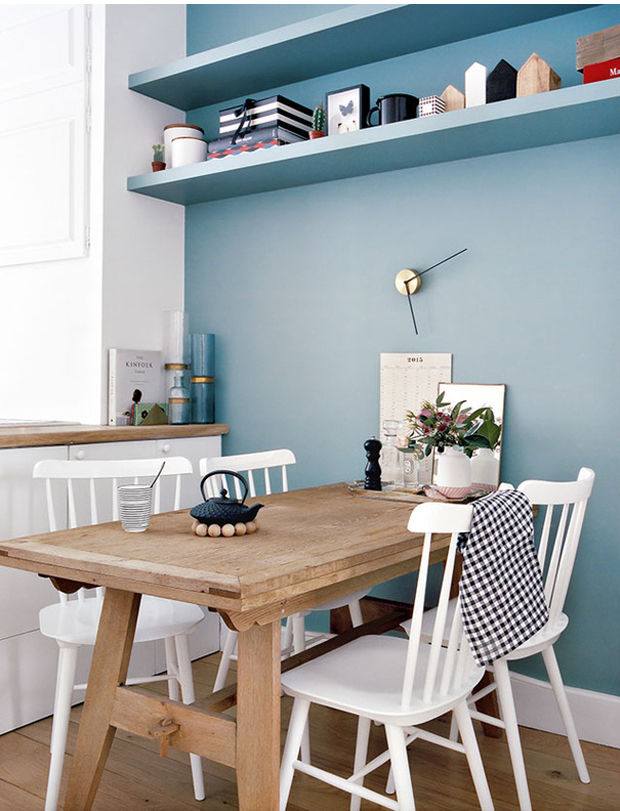 pastel color dining place