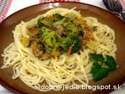 Špagety s brokolicovou zmesou - recept