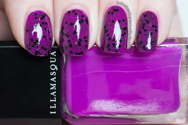 Illamasqua Swarm Stance nail polish swatch bat lash duo giveaway