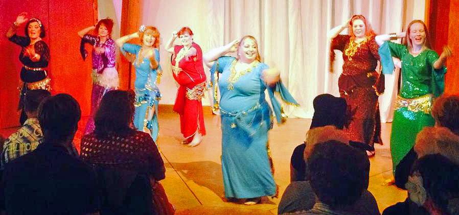 Imago Dancers perfoming Habibi Ya Eini, everyone singing 'Yalla, yalla!'